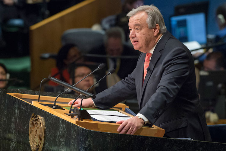 Photo: The ninth Secretary-General of the United Nations, António Guterres. Credit: UN Photo/Eskinder Debebe