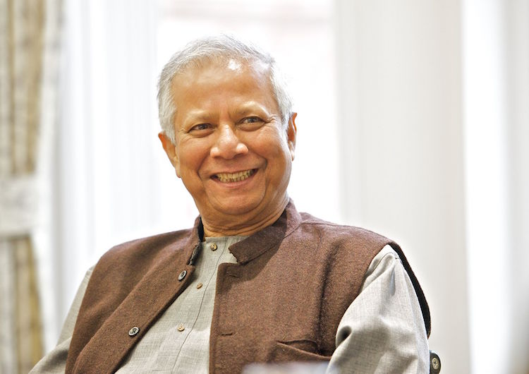 Photo: Nobel Laureate Prof. Muhammad Yunus. Credit: Wikimedia Commons.