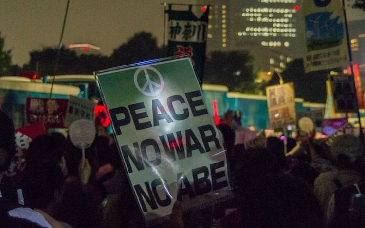 Photo: An antiwar demonstration in Tokyo, Japan on September 18, 2015. LittleGray T / Flickr