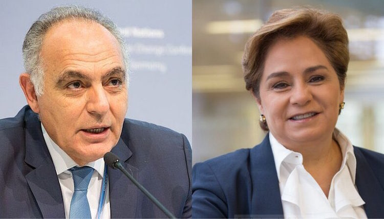 Photo: Salaheddine Mezouar (left) and Patricia Espinosa (right). Credit: cop22.ma