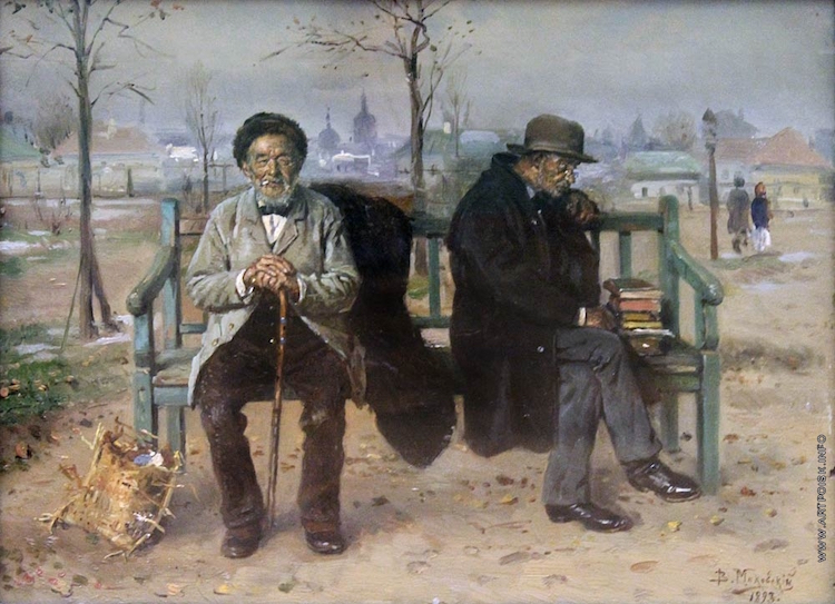Photo: An optimist and a pessimist, Vladimir Makovsky, 1893. Credit: Wikimedia Commons.